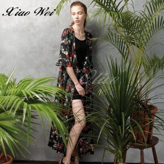 【CHENG DA】專櫃精品春夏款時尚長版外罩衫(NO.513382)
