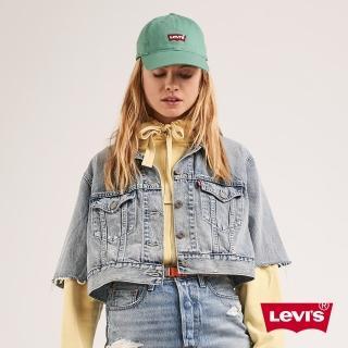 【LEVIS】女款 古著牛仔外套 / 復古寬鬆短版設計 / 袖口不收邊-人氣新品