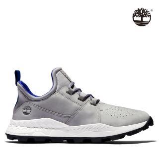 【Timberland】男款中灰色布魯克林休閒鞋(A2J3AF49)