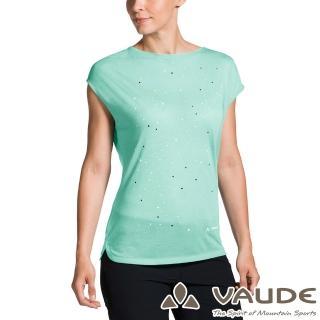 【VAUDE】女款抗臭透氣快乾圓領短袖T恤(VA-40962薄荷綠/登山/戶外/旅遊/休閒日常/運動)