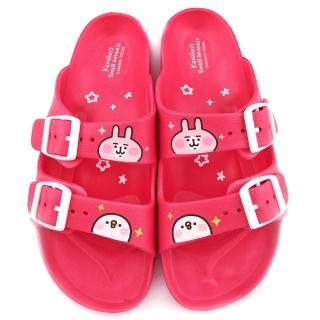 【童鞋城堡】雙排扣輕量拖鞋 Kanahei卡娜赫拉(KI0571-桃)