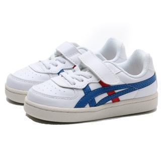 【asics 亞瑟士】ONITSUKA TIGER GSM TS 白紅藍 皮革 休閒鞋 小童(1184A023100)