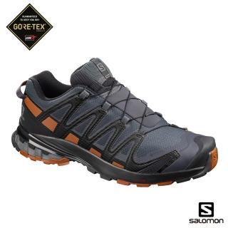 【salomon】健野鞋 低筒 男 XA PRO 3D V8 GORETEX(烏木黑/焦糖褐/黑)