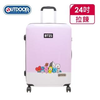 【OUTDOOR】宇宙明星BT21-全員集合行李箱24吋-紫(ODBT1980B24PL)
