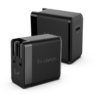 【Innowatt】氮化鎵GaN USB-C PD 65W 電源充電器PD165(迷你體積 大大功率 世界各國都能用)