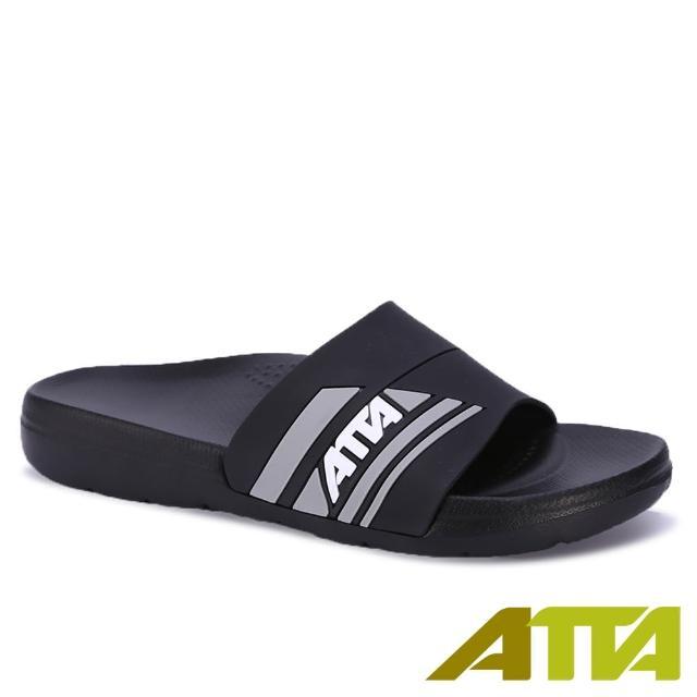 【ATTA】足弓支撐均壓拖鞋(黑色)/