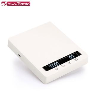 【Tiamo】RT3000專業計時電子秤-珍珠白(HK0601PW)