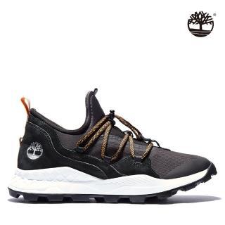 【Timberland】男款黑色織布布蘭克林鞋(A2D7T015)