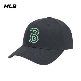 【MLB】LIKE系列爆米花波士頓紅襪隊可調整式棒球帽 老帽(32CPIA011-43N)