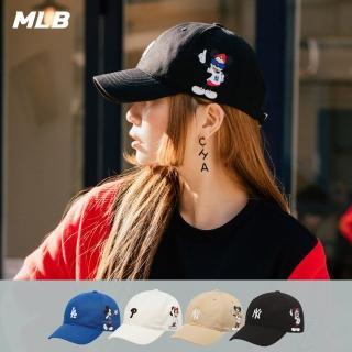 【MLB】DISNEY聯名米奇職棒大聯盟隊 可調整式棒球帽 老帽(四款任選)