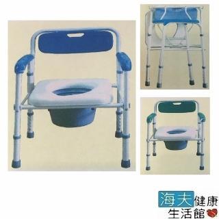 【海夫健康生活館】好家機械椅_未滅菌 台灣製 塑背 軟墊 折疊式 烤漆便器椅 便盆椅(A120)
