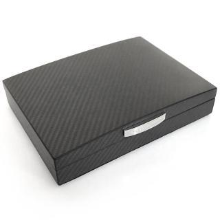 【Porsche Design 保時捷】頂級碳纖維攜帶式雪茄盒(小)