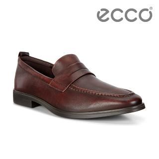 【ecco】MELBOURNE 紳士商務正裝樂福鞋 男鞋(褐色 62177401053)