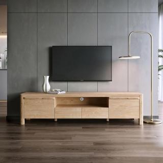 【hoi! 好好生活】林氏木業北歐簡約1.8米電視櫃 HS1M-原木色