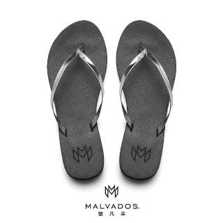 【Malvados 魅凡朵】時尚人字夾腳拖鞋 LUX 萊絲 - Raven 烏鴉