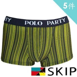 【SKIP 四季織】POLO PARTY鍺離子男四角5入(鍺)