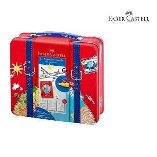 【Faber-Castell】155535 旅行箱40色連接彩色筆(繪圖.彩色筆)