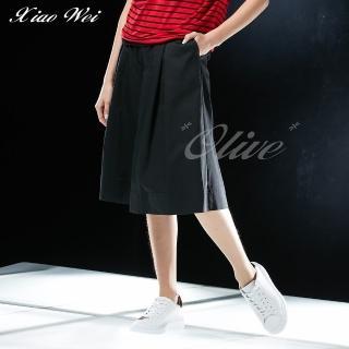 【CHENG DA】專櫃精品春夏款時尚流行七分褲裙(NO.021694)
