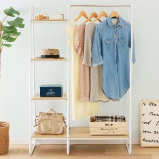 【IRIS】木質分層收納吊掛衣架PI-B3(掛衣架/分層收納/日式風格//簡約時尚)