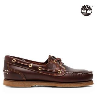 【Timberland】女款深棕色全粒面經典帆船鞋(72333214)