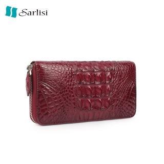 【Sarlisi】鱷魚皮手拿包女士錢包長款真皮長夾手包鱷魚尾骨手抓包