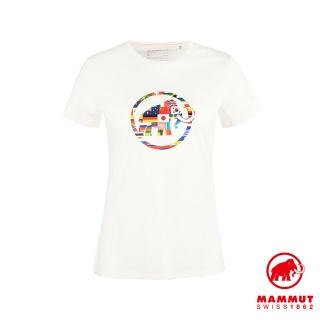 【Mammut 長毛象】Nations T-Shirt 世界LOGO短袖上衣 女款 純白 #1017-02230