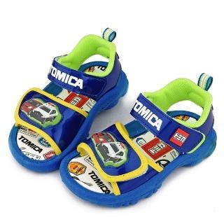 【童鞋城堡】LED燈涼鞋 Tomica多美小汽車(TM3616-藍)