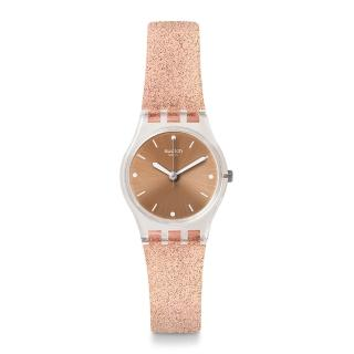 【SWATCH】就是SWATCH系列手錶 PINKINDESCENT TOO 粉色星沙(25mm)