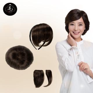 韓國全真髮手工製自然透氣增髮髮片(U)
