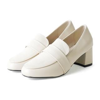 【OLLIE】韓國直送/版型偏小。美型穿搭厚底粗跟厚底跟鞋(72-739-3色/現貨)