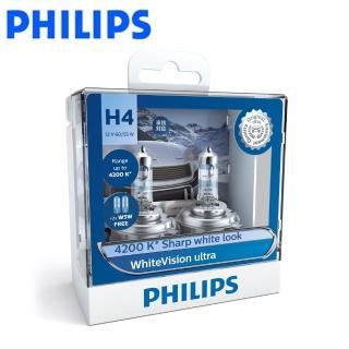 【Philips 飛利浦】車燈 雪曜光+亮60% WhiteVision Ultra(公司貨)