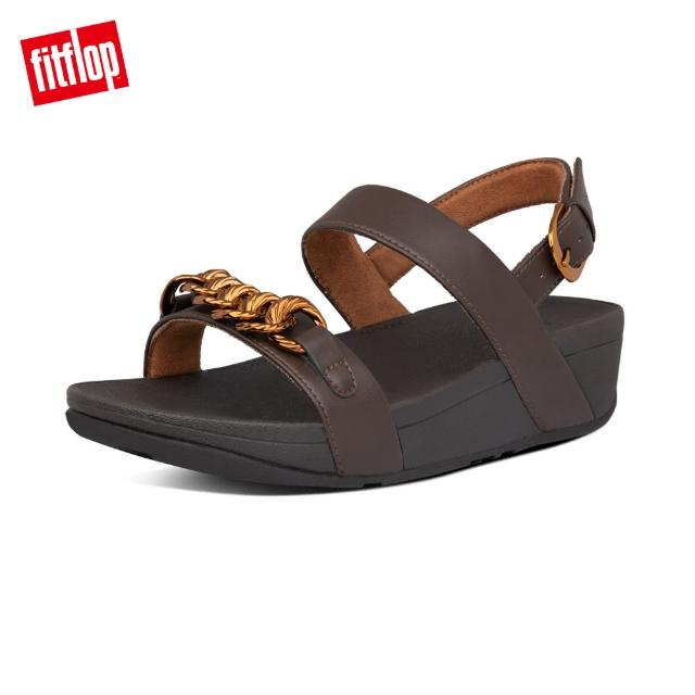 【FitFlop】LOTTIE CHAIN BACK-STRAP SANDALS 復古鎖鏈後帶涼鞋-女(巧克力棕)