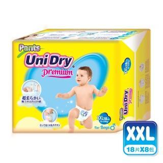 【優力褲】嬰兒褲型紙尿褲特級版男生版XXL18片x8包/箱(嬰兒紙尿褲 褲型紙尿褲)