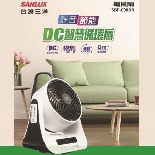 【SANLUX 台灣三洋】8吋DC智慧循環扇(SBF-C08DR)