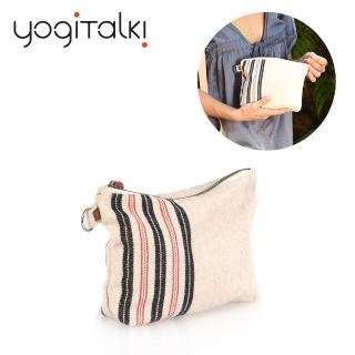 【yogiTalki】法國日光旅行 天然棉質小拉鍊收納袋