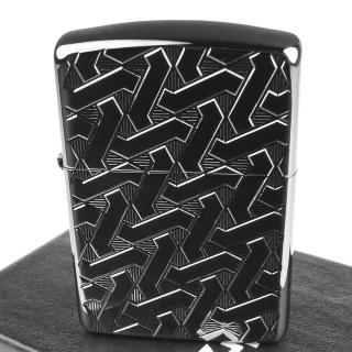 【Zippo】美系~Geometric Weave-幾何編織圖案深刻兩面加工打火機(ARMOR裝甲)