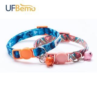 【UFBemo 優范寵物】兩件套貓鈴鐺-雙面熱轉印(告白氣球&海洋之星)