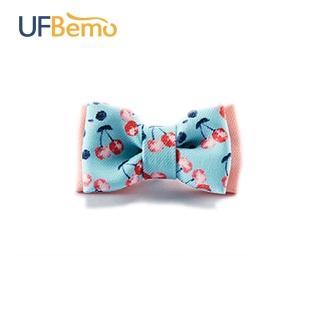 【UFBemo 優范寵物】雙層貓領結 單只裝(粉紅櫻桃 櫻桃滋味)