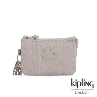 【KIPLING】溫柔燕麥色三夾層配件包-CREATIVITY