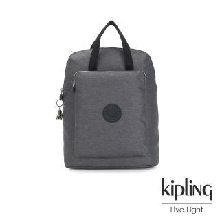 【KIPLING】沉穩丹寧灰手提後背電腦公事包-KAZUKI