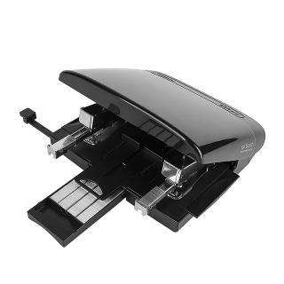【KW-triO】air touch 空氣指感雙頭省力訂書機 玉石黑 055Y2(一次出雙針/書本報紙雜誌裝訂/精準定位尺標)