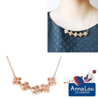 【Anna Lou Of London】倫敦品牌 優雅風信子hyacinth花朵玫瑰金項鍊(絕版品 售完不補)