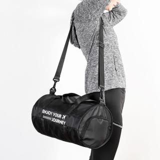 【WEEKEIGHT】多功能乾濕分離設計圓筒型手提肩背運動背包/旅行袋(小型)