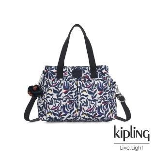 【KIPLING】舞動炫彩點綴花卉大容量手提兩用包-KENZIE/