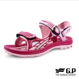 【G.P】女 童鞋 柔軟PLUS兒童兩用涼拖鞋 女鞋(桃紅)