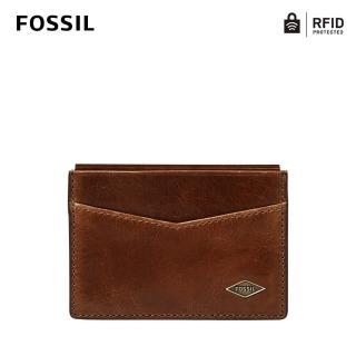【FOSSIL】Ryan 真皮RFID防盜卡夾-沉穩棕 ML4234201
