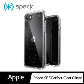 【Speck】iPhone SE 第2代 Presidio Perfect-Clear Gltr iPhone 抗菌透明 閃亮防摔殼 4米防摔(防摔保護殼)