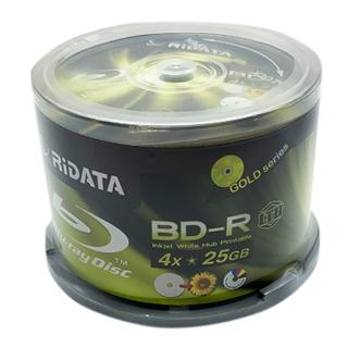 【RiDATA 錸德】RiDATA LTH 金片 霧面可列印式 BD-R 4X 25G 光碟片/燒錄片/藍光片(100片)