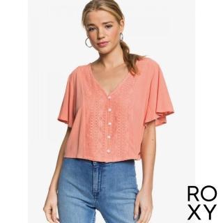 【ROXY】女款 女裝 上衣 T恤 短袖 HANGING MOON(珊瑚紅)