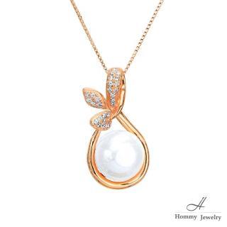 【幸福珠寶】『希望的萌芽』經典葉子造型天然珍珠項鍊(珍珠)